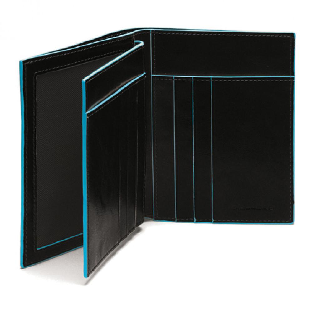 BL SQUARE/Black Портмоне верт. с отдел. для 6 кред.карт (9,5x12,5x2)