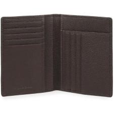 BK SQUARE/D.Brown Портмоне верт. с отдел. для 9 кред.карт с RFID защитой (9,5x12,5x1,5)