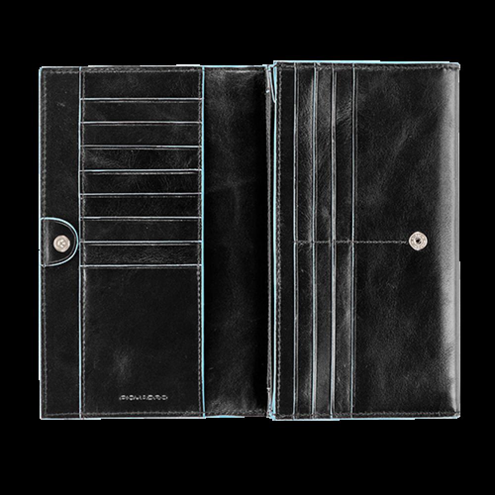 BL SQUARE/Black Портмоне жен. на кнопке (19x11x3,4)