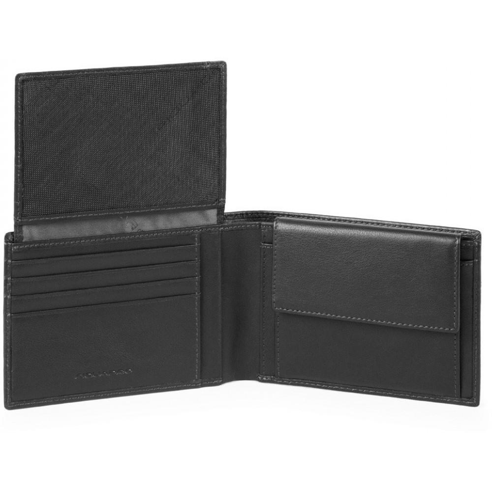 URBAN/Black Портмоне гориз. с отдел. для док. с RFID защитой (13x9x2)