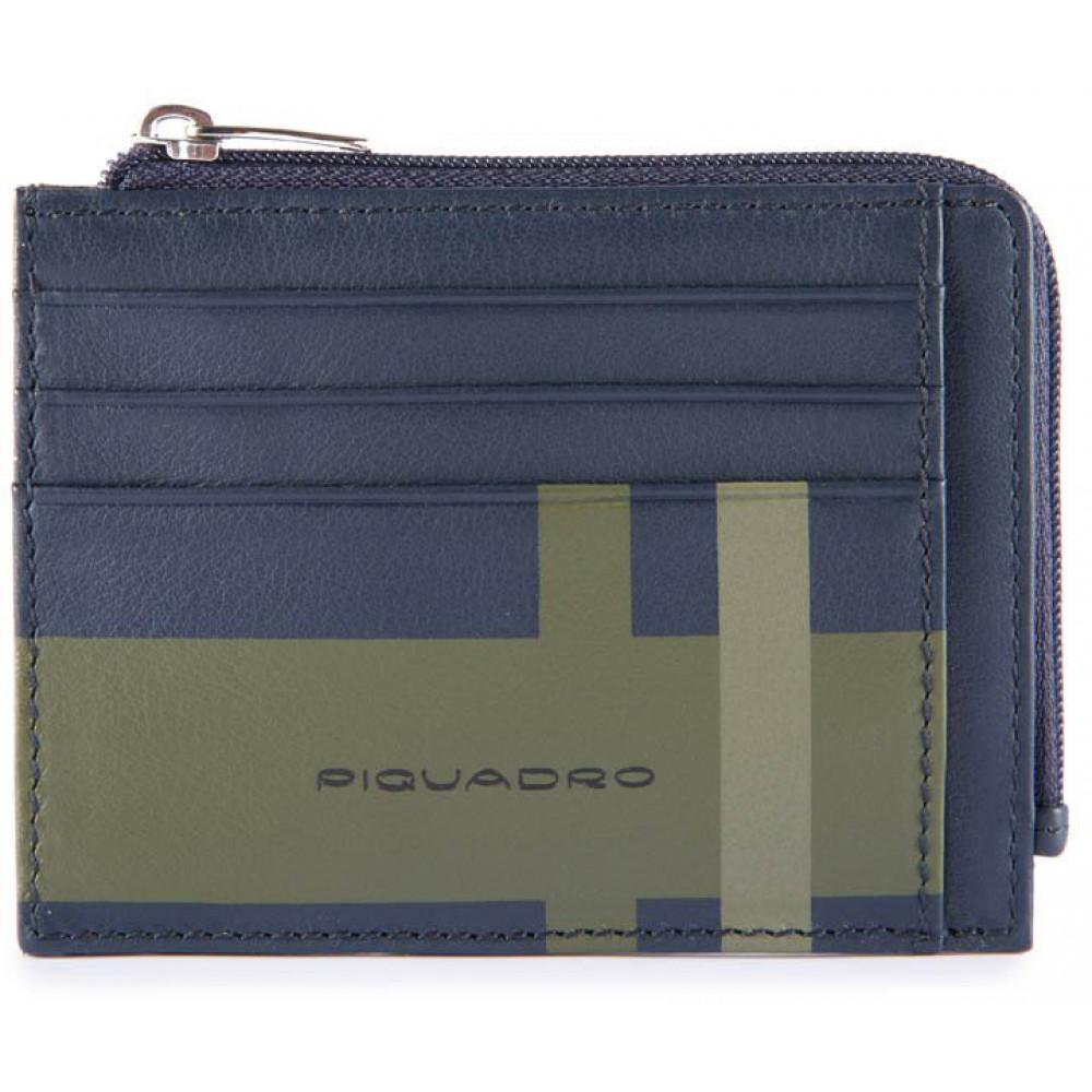 Кредитница с отдел. для монет на молнии с RFID защитой CheckBlue