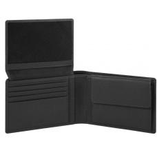 AKRON/Black Портмоне гориз. с отдел. для док. с RFID защитой (13x9x2,5)