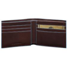 BL SQUARE/Cognac Портмоне гориз. с отдел. для док. с RFID защитой (11x9x1,5)