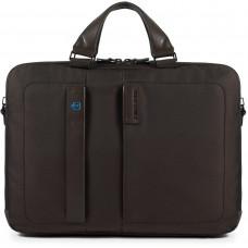"PULSE/ChevronBrown Портфель двуручн. с отдел. для ноутбука 15,6""/iPad (41x29x10)"