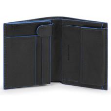 B2S/Black Портмоне верт. с отдел. для монет с RFID защитой (9,5x12,5x2,5)