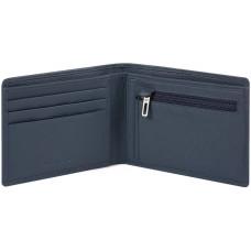 AKRON/Blue Портмоне с отдел. для монет с RFID защитой (12x9,5x1,5)
