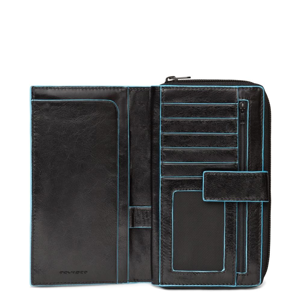 BL SQUARE/Black Портмоне верт. карман для монет на молнии с RFID защитой (10x17,5x3)